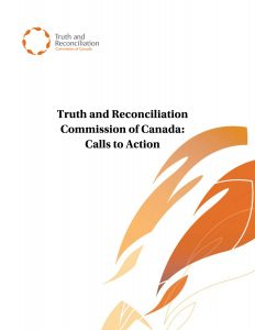 TRC calls to action cover