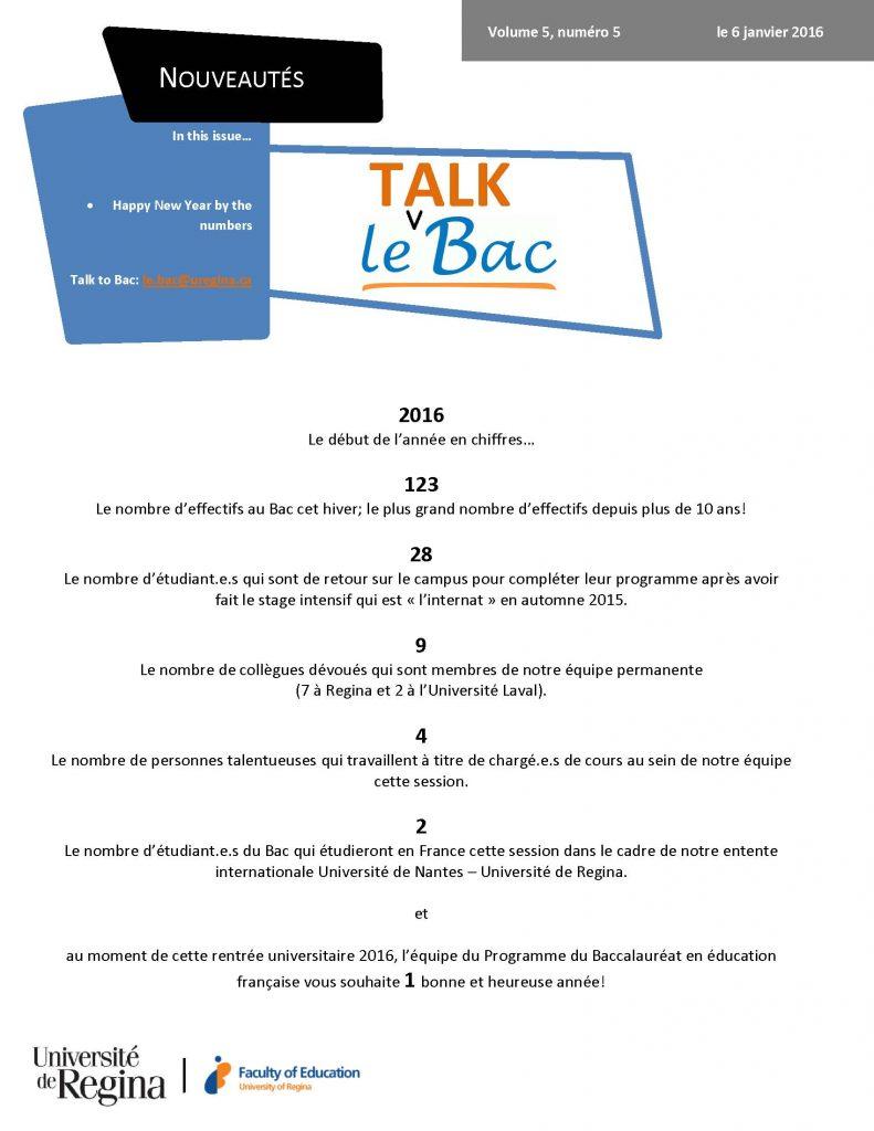 Talk Bac v5 n5 janvier 2016