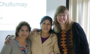 Lucia Cheuquian Elgueta, Maria Angelica Relmuan Alvarez and Dr. Cindy Hanson. (Photo courtesy of Dr. Cindy Hanson).
