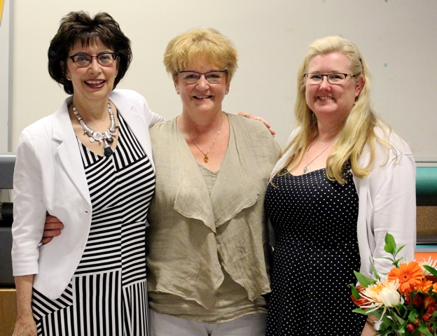 The Faculty bids fond farewells to retiring faculty Dr. Carol Schick and Dr. Wanda Lyons, and to Dr. Lace Brogden who will become the founding dean at Laurentian University. (L-R) Carol Schick, Wanda Lyons, and Lace Brodgen. Photo credit: Shuana Niessen