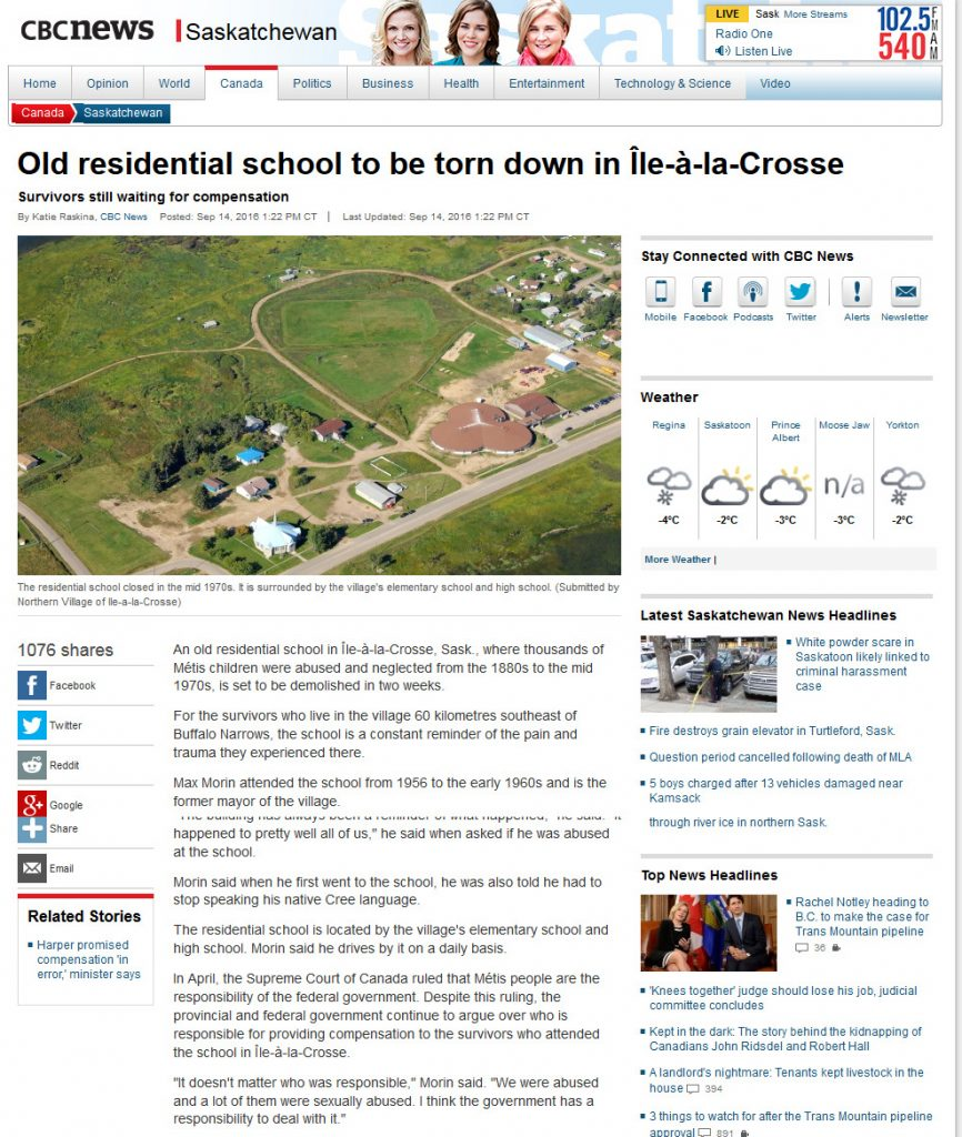 old-residential-school-to-be-torn-down-in-ile-a-la-crosse-saskatchewan-cbc-news-1
