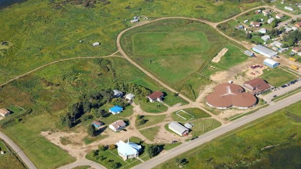 aerial-shot-of-ile-a-la-crosse-residential-school
