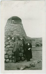 Mrs. McKay, and nephew of the late Rev. McKay on the occasion of the unveiling of the cairn erected in memory of Rev. Hugh McKay, missionary to the Indians and former principal of Round Lake Residential School] 93.049 P1169