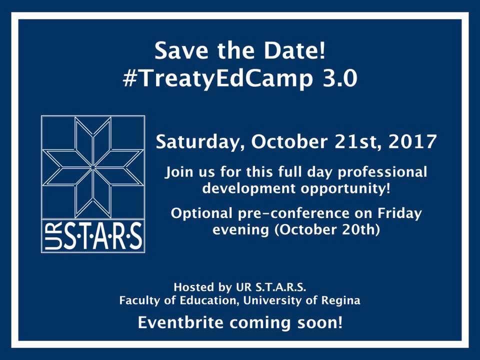 Save the Date #TreatyEdCamp 3.0