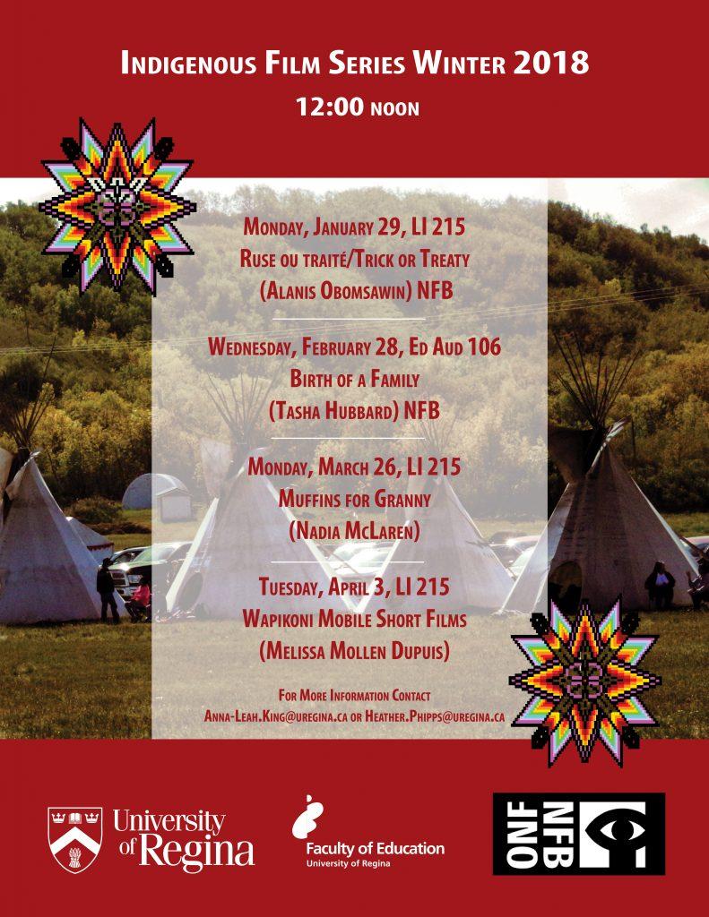 Indigenous Film Series – Winter 2018