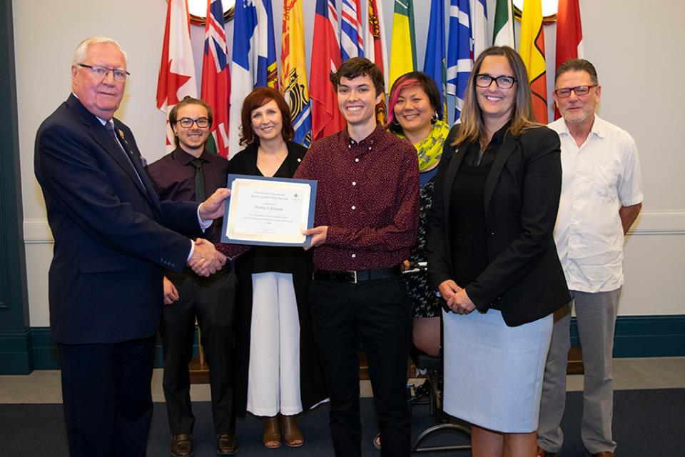 fYrefly in Schools presented with the Prairiaction Foundation Youth Leadership Award