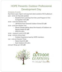 Opportunity to learn more about Outdoor Education