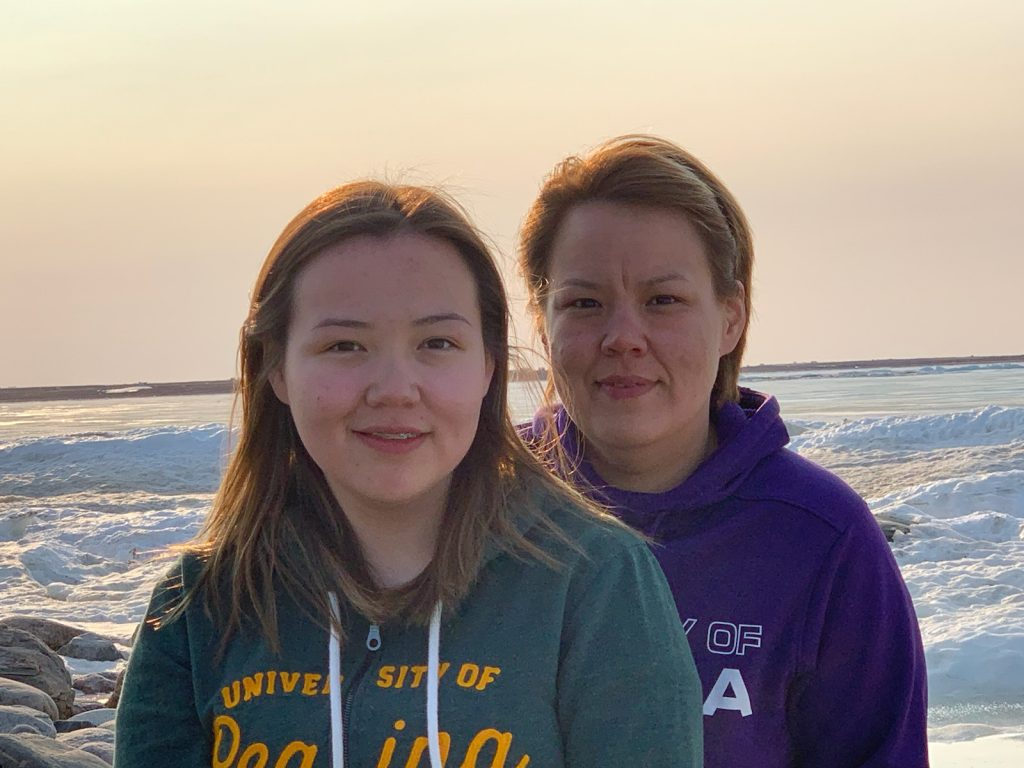 Mother and daughter from Nunavut: Students together at the U of R