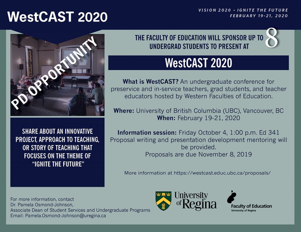 WestCAST 2020 | PD opportunity for up to 8 undergraduate students
