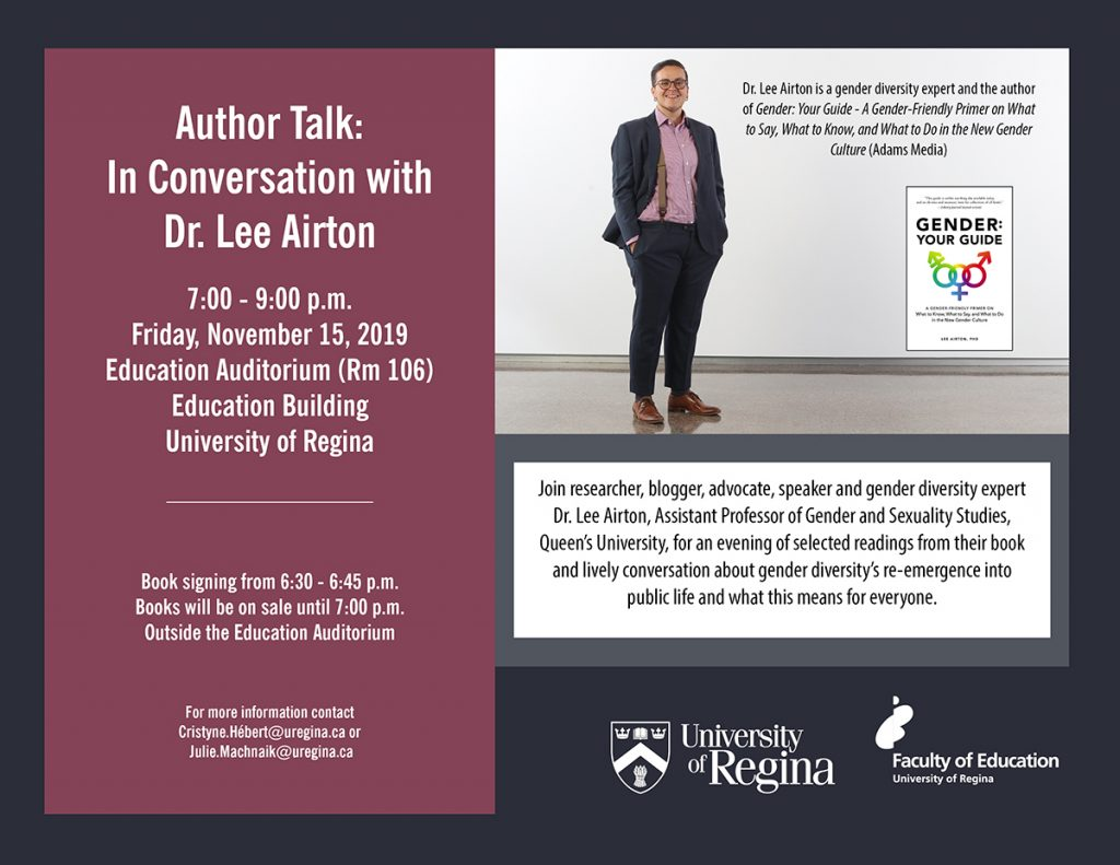 Author talk: In conversation with Dr. Lee Airton