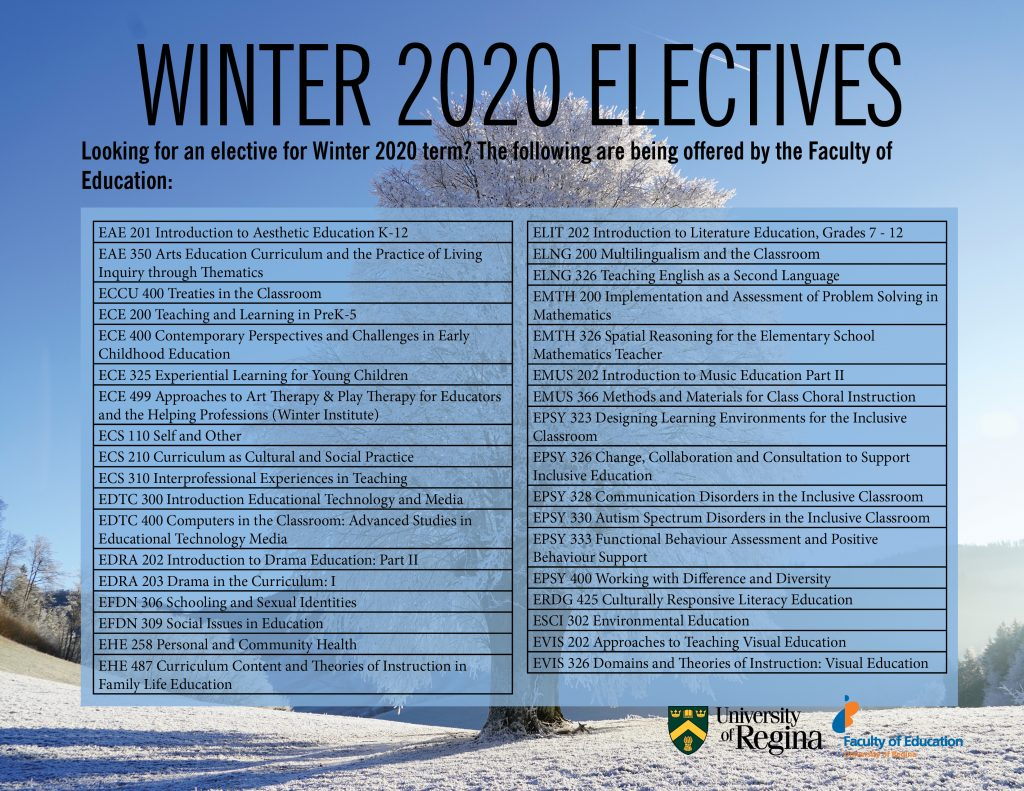 2020 Electives