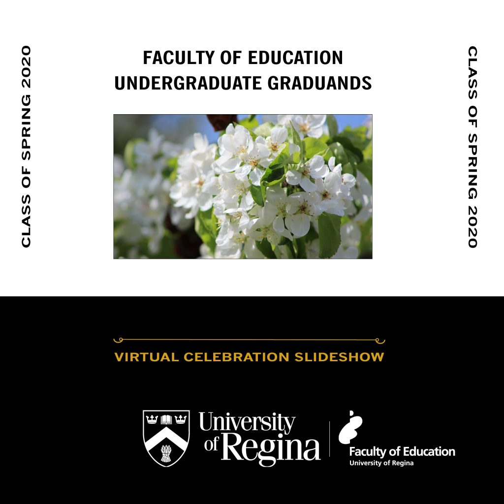 Virtual Celebration of our Faculty of Education Undergrads Graduands