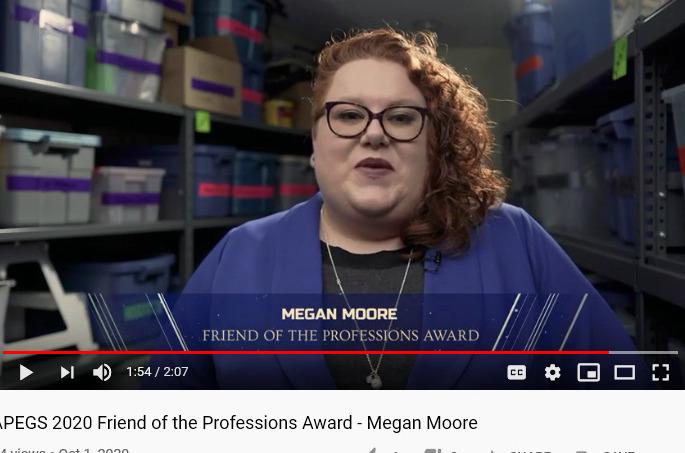 Grad student recipient of the APEG Saskatchewan Award