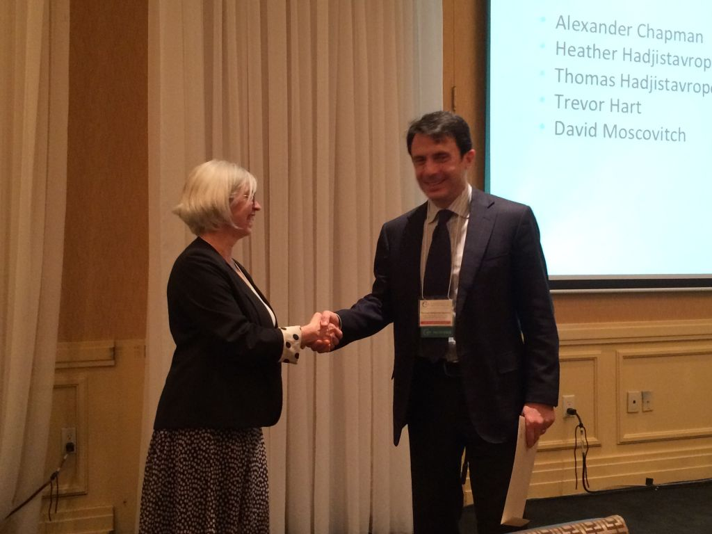 Recognized as CACBT Fellow in Hamilton, Ontario (with CACBT Past President,  Dr.